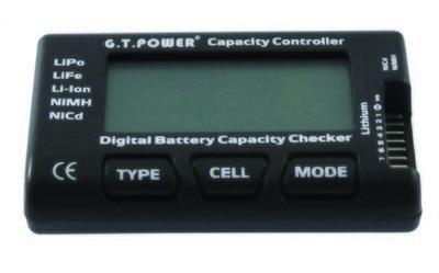 (ΟΜ020-RC7) Ψηφιακό βολτόμετρο και ελεγκτής χωρητικότητας μπαταριών