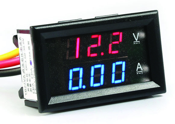 VI004 Βολτόμετρο, αμπερόμετρο και μετρητής ρεύματος 4,5-30V 10A