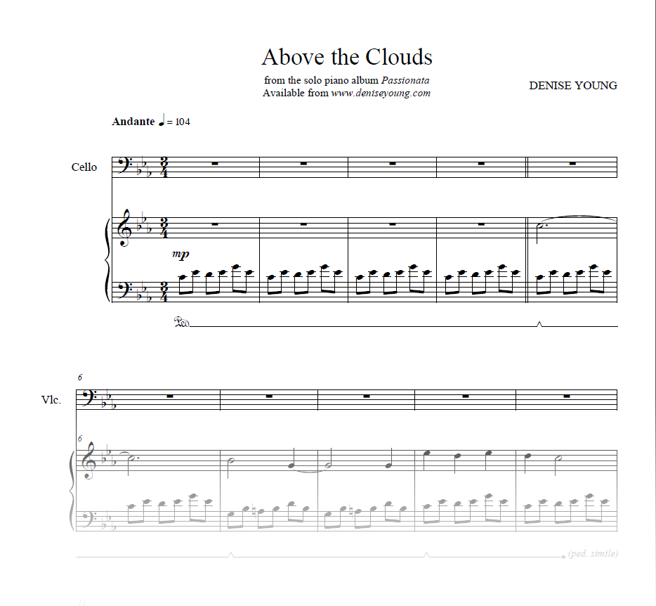 """Above the Clouds"" Sheet Music for Piano and Cello"