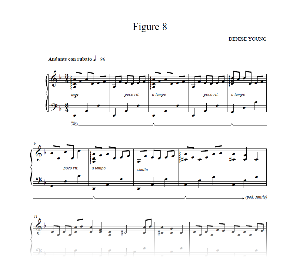 """Figure 8"" Sheet Music for Piano"