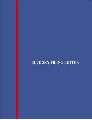 Blue Sky Filing Letter