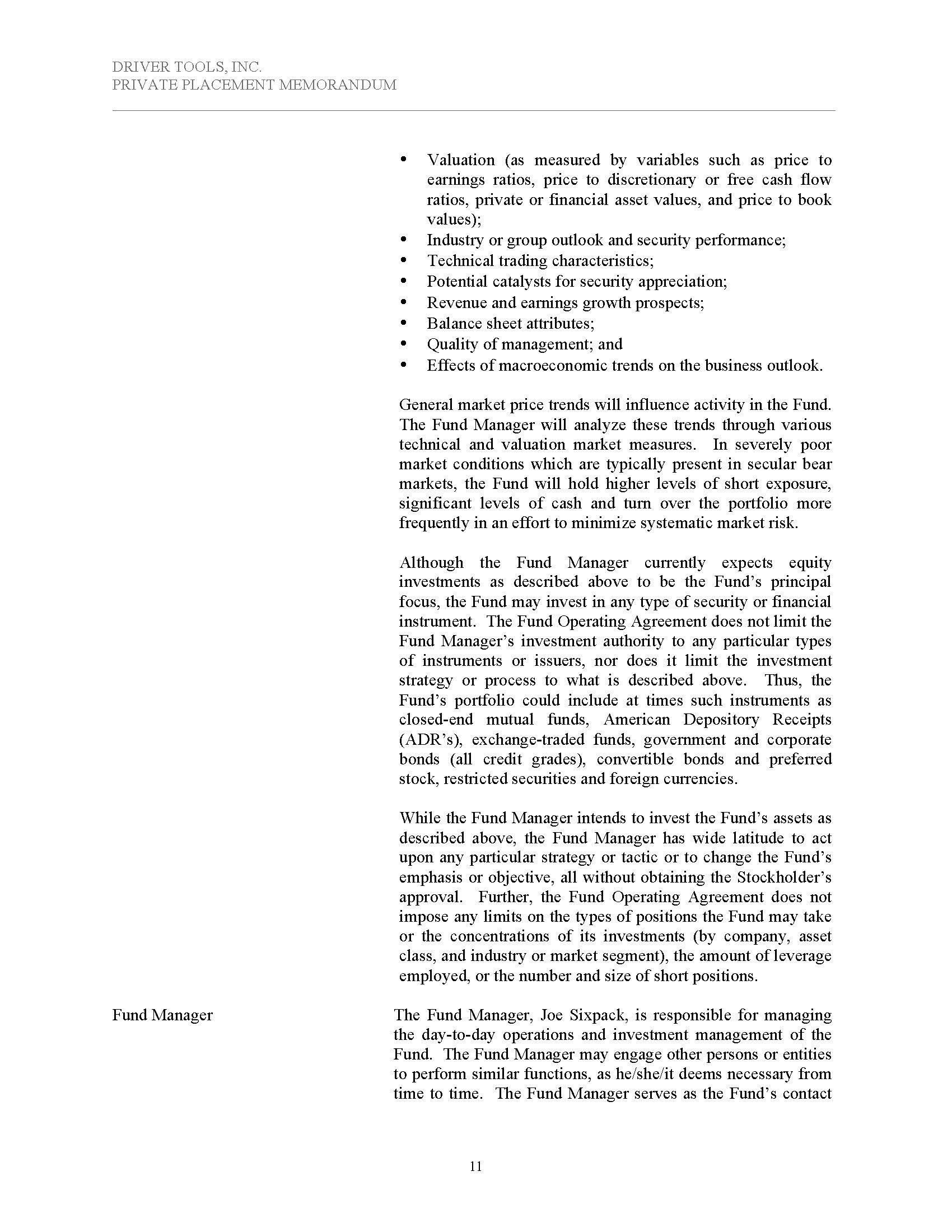 Rule 506(c) Corporate Hedge Fund