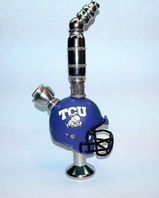 d450fa2e Texas Christian University Horned Frogs Helmet Pipe Stand Alone Design