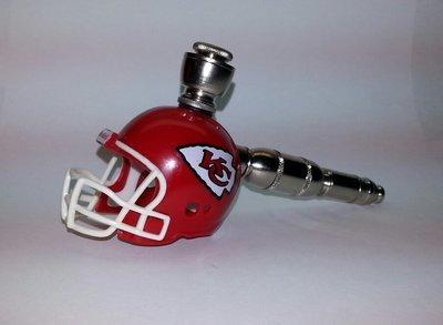 0eee35aa Kansas City Chiefs NFL Helmet Pipe Straight Design Nickel Finish