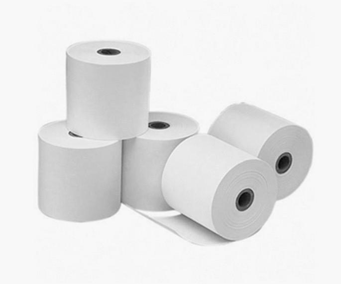 גליל נייר טרמי 80מ״מ (מחיר ליח׳) קוטר 5ס״מ