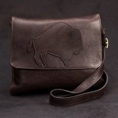 Trim Style Purse Buffalo Applique Purse