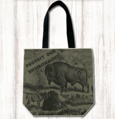 Protect Our Environment Bison Tote