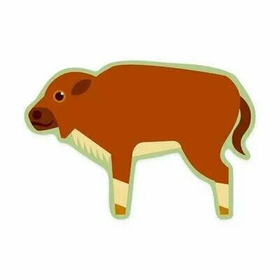 Bison Calf Sticker