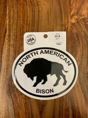 North American Bison Sticker