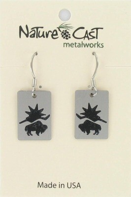 Small Buffalo Earrings