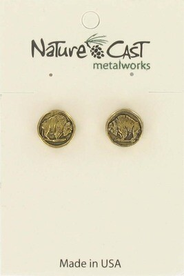 Bison Gold Coin Earrings