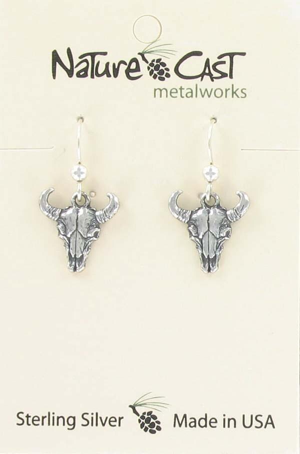 Sterling Silver Skull Earrings