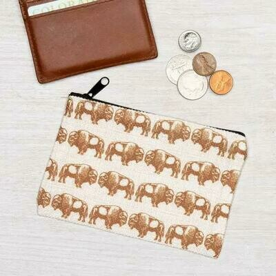 Small Bison Zipper Pouch