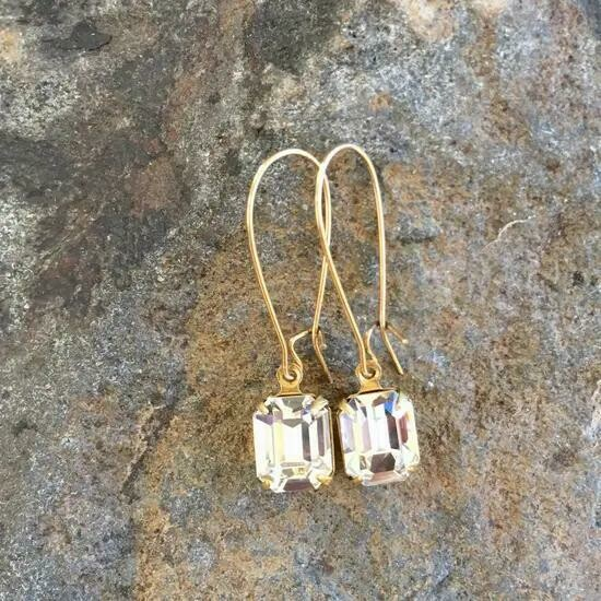 Simple Solitaire Gold Earrings
