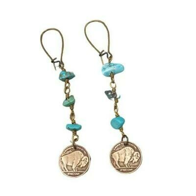 Turquoise Buffalo Earrings