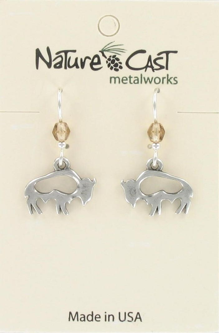 Buffalo Cutout Dangle Earrings