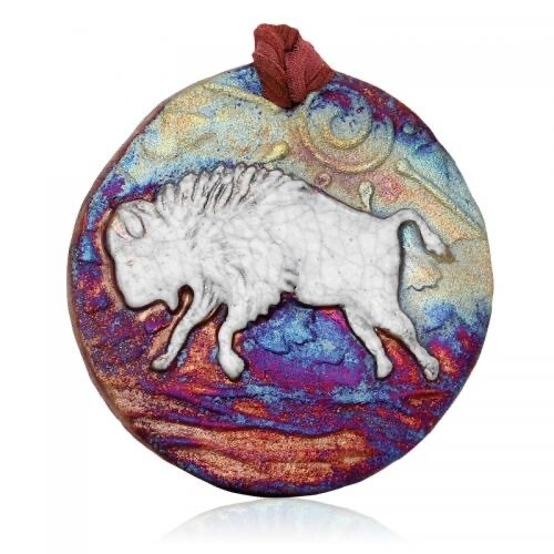 Raku Medallion Ornament