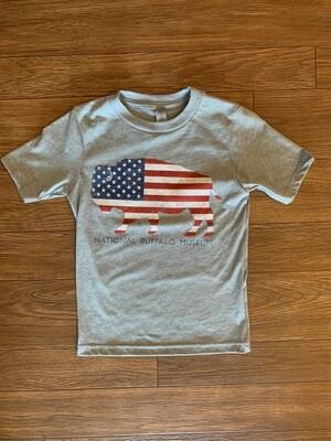 US Flag National Buffalo Museum Youth T-Shirt
