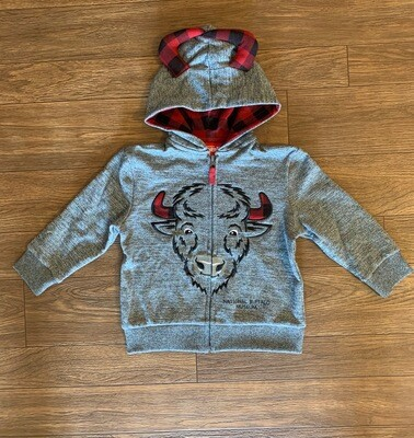 Kids Zip Buffalo Hoodie