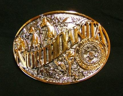 Buckle- North Dakota Two-Tone