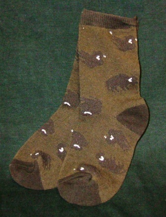 Buffalo Crew Socks Brown