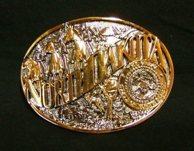 Buckle- North Dakota Two-Tone