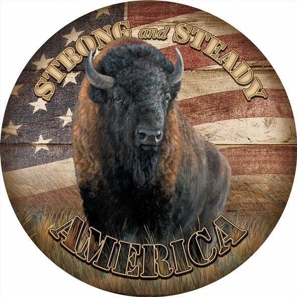 America Strong Round Sign 8326