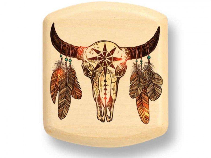 Bison Skull Color Art Secret Box 8731