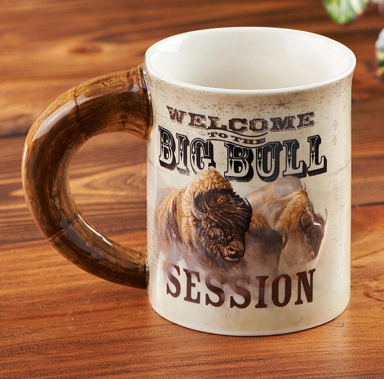Big Bull Session Bison Sculpted Mug 8459