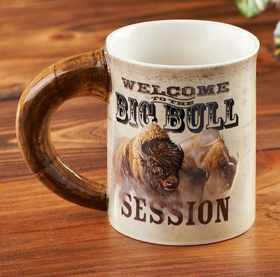 Big Bull Session Bison Sculpted Mug