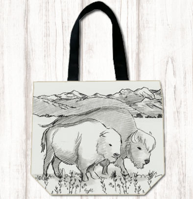 Black & White Buffalo Tote 8448