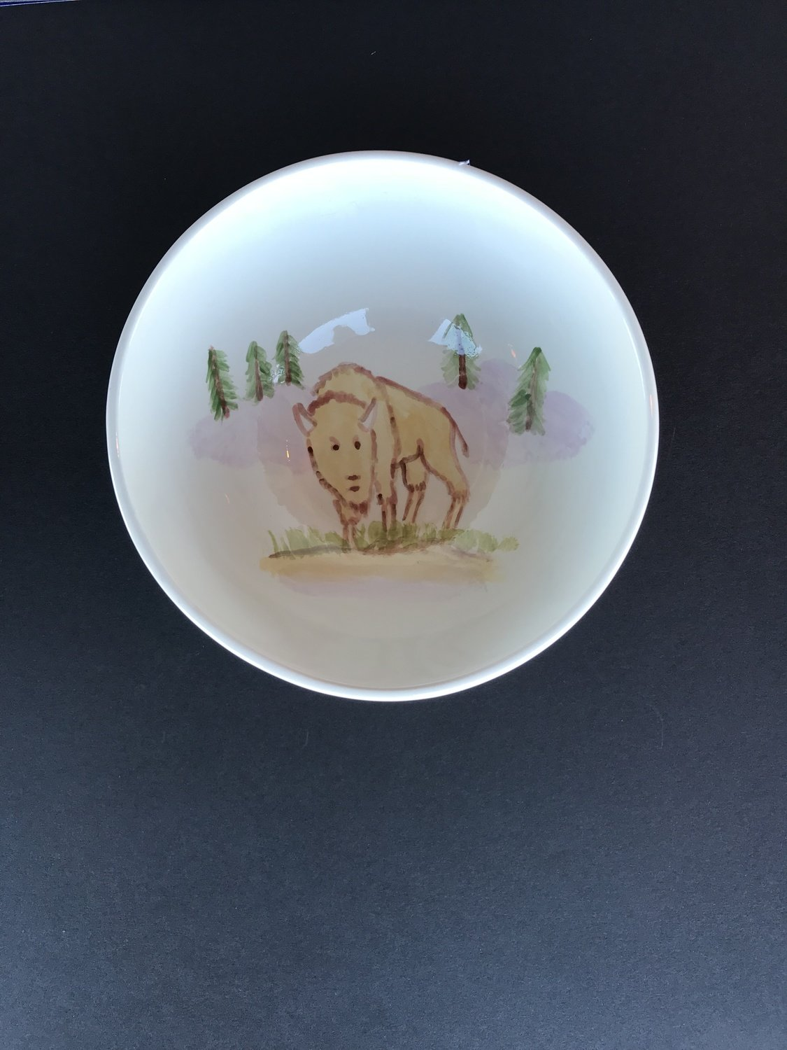 Cereal Bowl Bison on the Hill