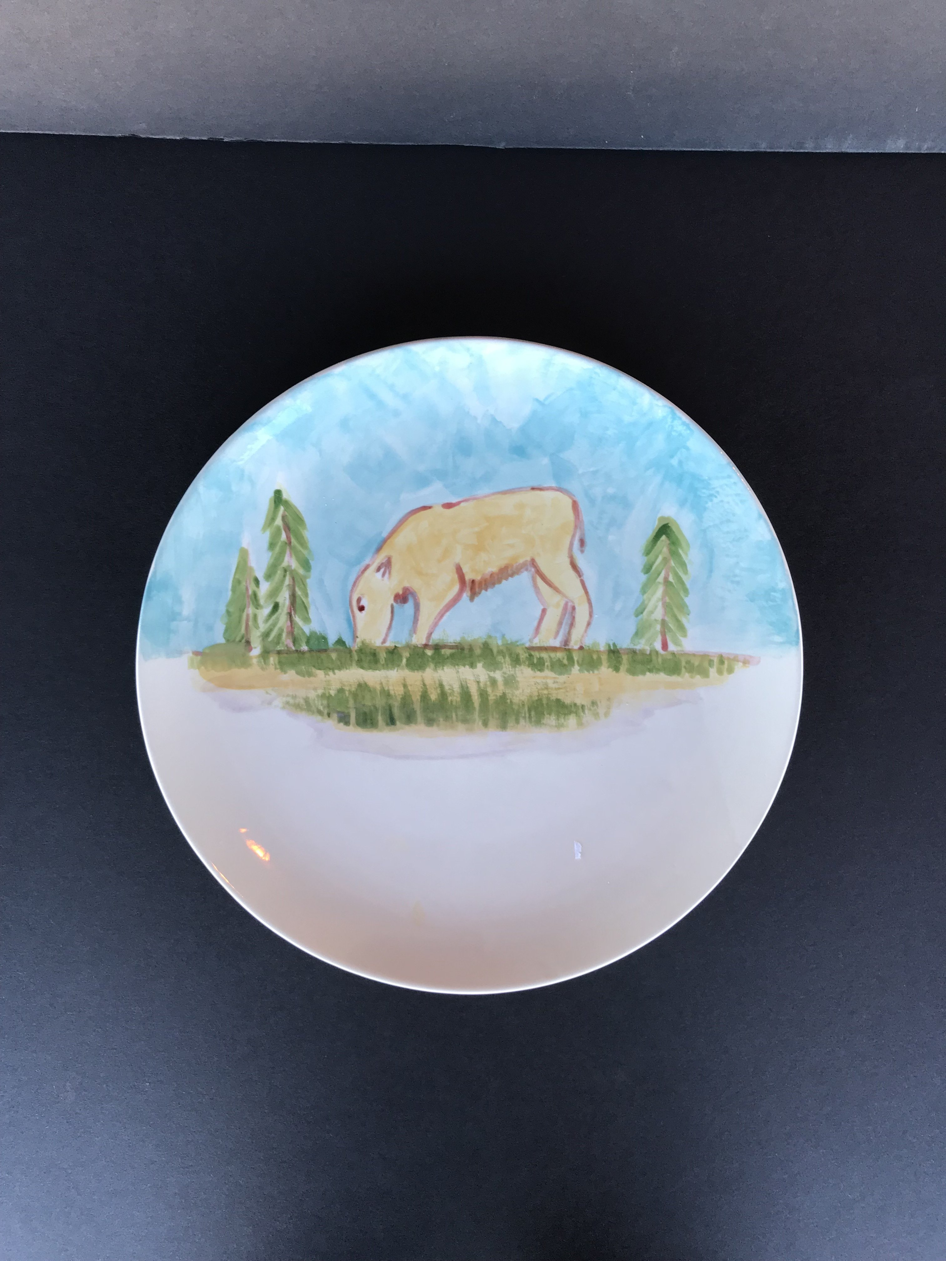 Grazing Calf