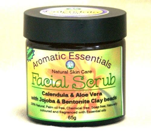 Facial Scrub - Calendula, Aloe,  Jojoba and Clay, Vegan, Natural, Sensational!