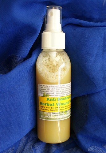Anti-Bacterial Anti-Virus, 100% Natural Herbal Wash for cuts and wounds. Non sting.
