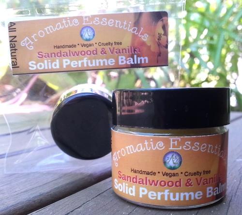 Perfume Balm  - All Natural Vanilla/Sandalwood