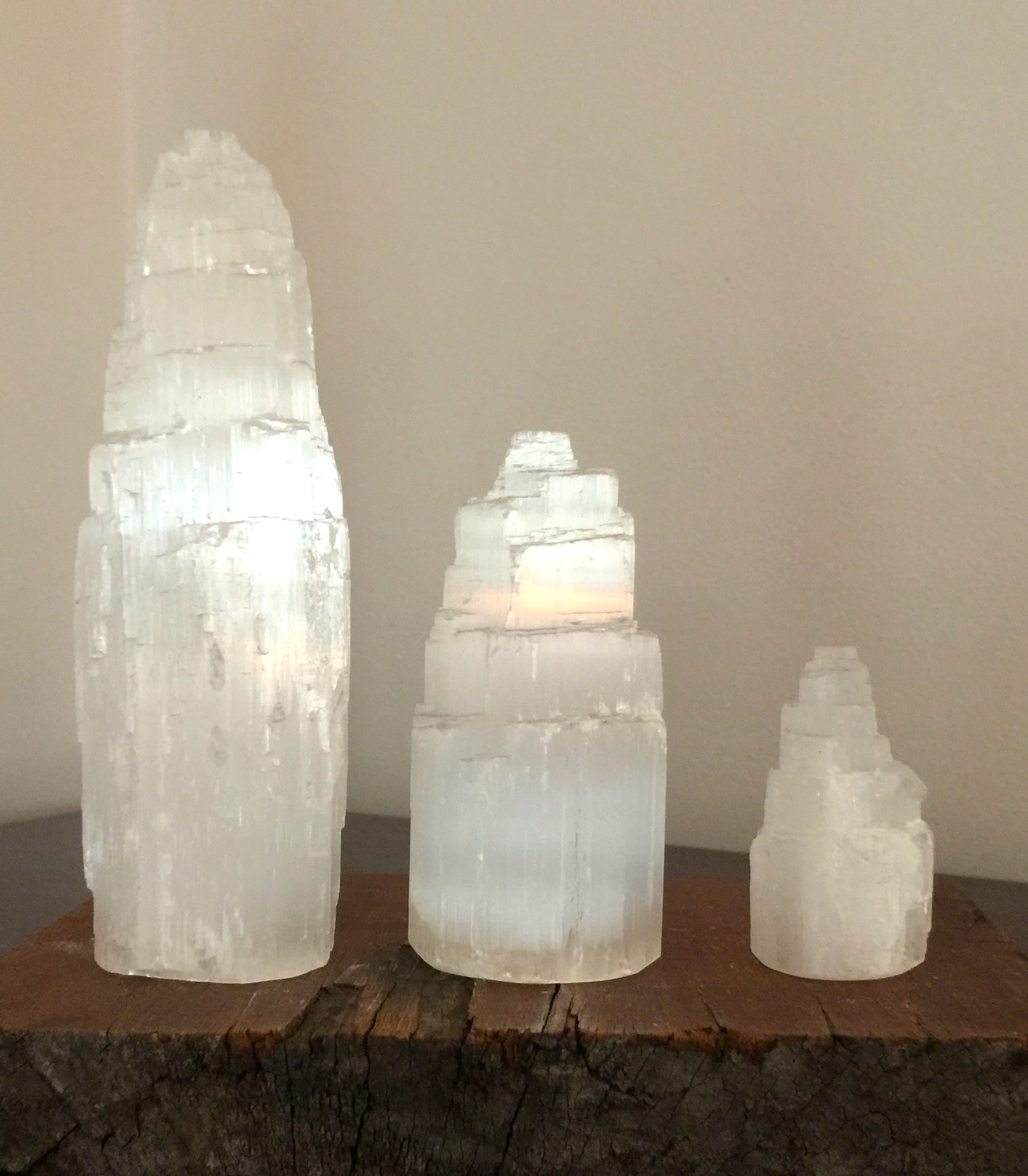 Selenite Tower Set - save > 10% 00282