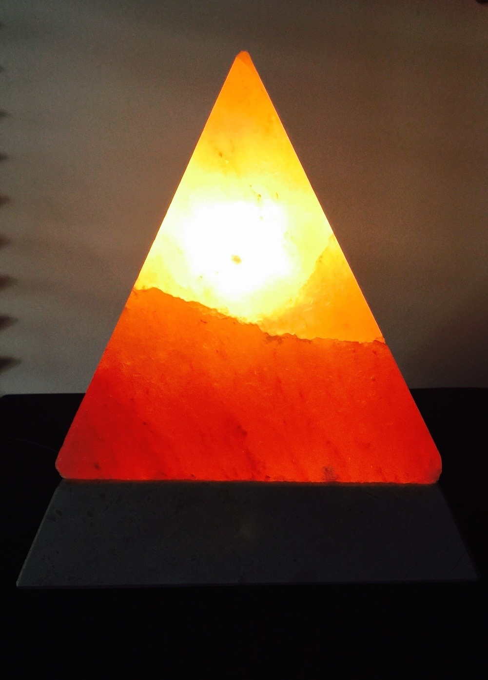 Pyramid with black onyx base (med size) 00285