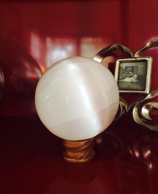 Selenite Sphere - Large 00034