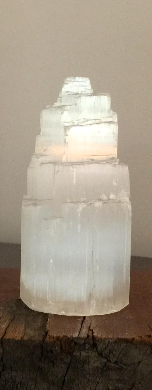 Selenite Tower (med) - approx 10 cm high 00108