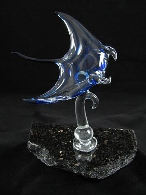 Manta Ray on Granite Base