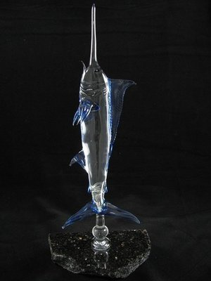 Vertical Marlin on Granite Base
