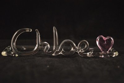 Custom Name with Small Heart