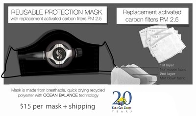 KIds Sea Camp Protective Mask/ with filter