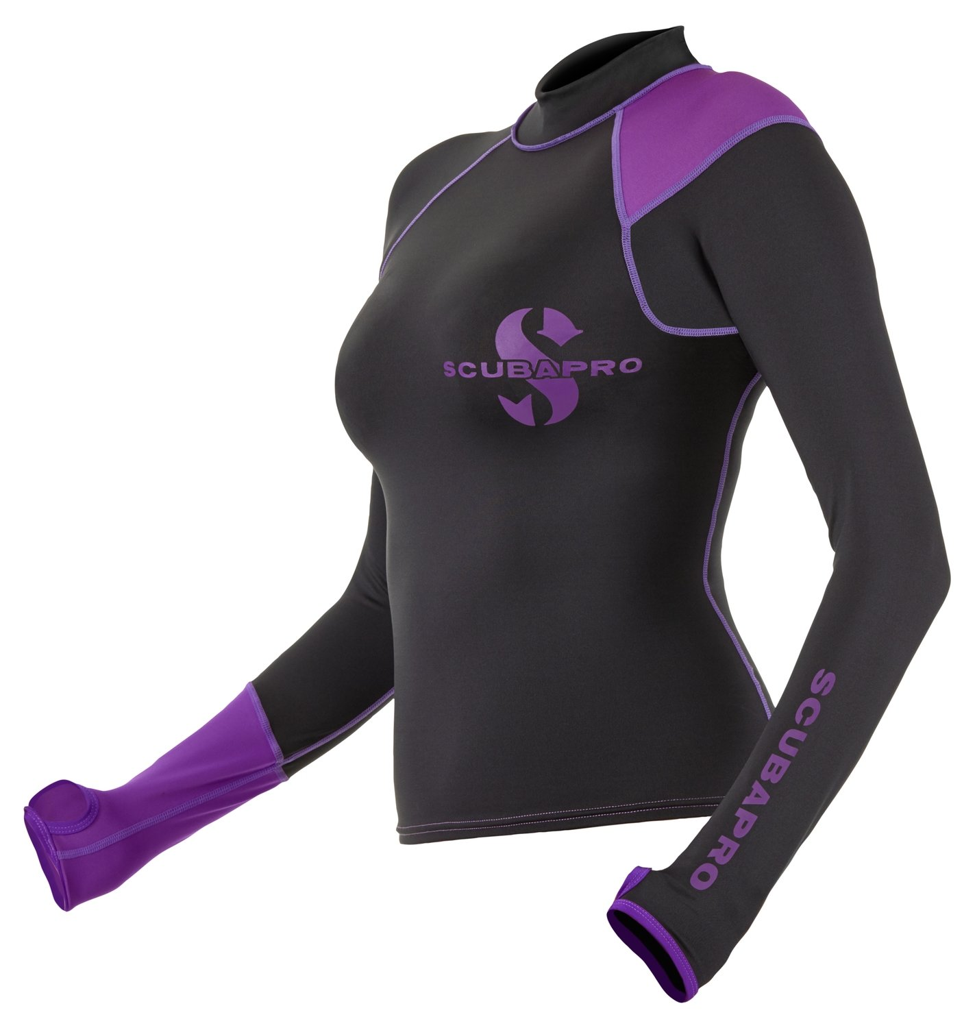 Economy Black Rash Guard for Women, Long/Short Sleeve