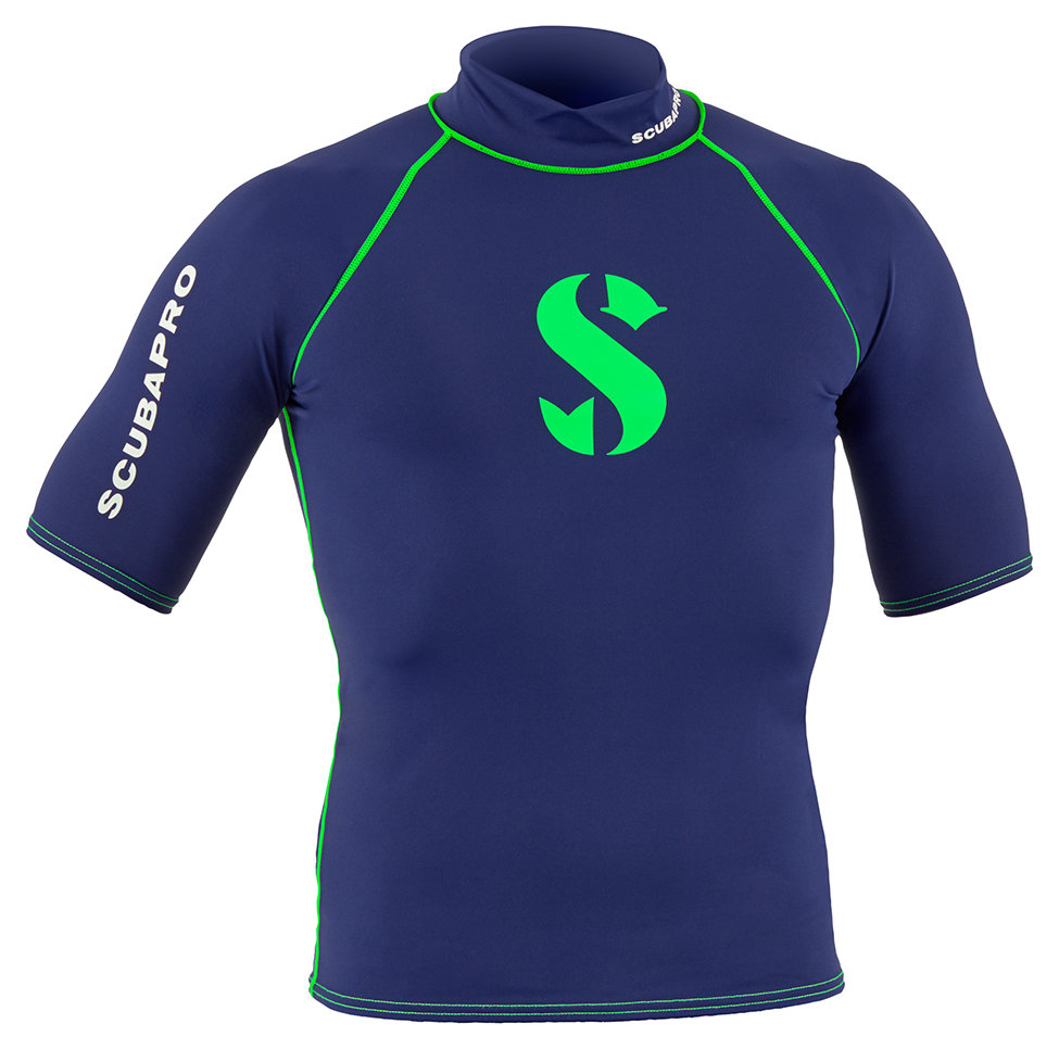 Blue Planet Rash Guard for Men, Short Sleeve