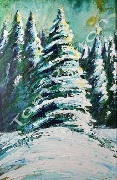 Evergreen 30x48 - Original-framed