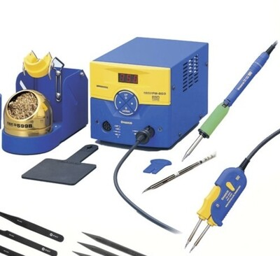 Hakko Bundle Discount- FM203 Dual port soldering station with Iron and Hot Tweezers.