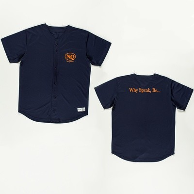 NQ Baseball Jersey Orange on Navy.