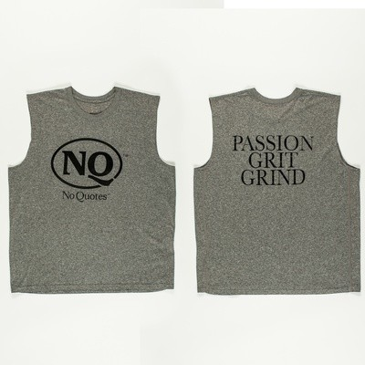 NQ Black on Silver Sleeveless (Now Available)